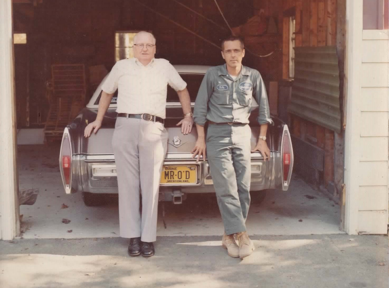 1970 photo of Waldo & Gordon (Pete) O'Donnell.  Pete started Elegant Homes in 1968.